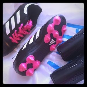 Adidas youth soccer cleats and shin gaurds
